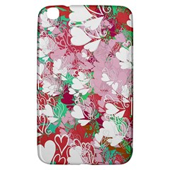 Confetti Hearts Digital Love Heart Background Pattern Samsung Galaxy Tab 3 (8 ) T3100 Hardshell Case