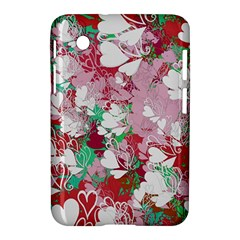 Confetti Hearts Digital Love Heart Background Pattern Samsung Galaxy Tab 2 (7 ) P3100 Hardshell Case