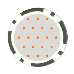 Diamond Polka Dot Grey Orange Circle Spot Poker Chip Card Guard
