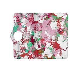 Confetti Hearts Digital Love Heart Background Pattern Kindle Fire HDX 8.9  Flip 360 Case