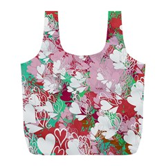 Confetti Hearts Digital Love Heart Background Pattern Full Print Recycle Bags (l)