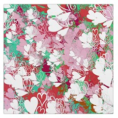 Confetti Hearts Digital Love Heart Background Pattern Large Satin Scarf (square)