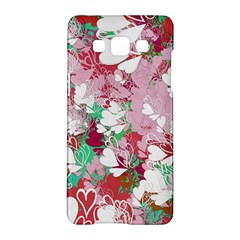 Confetti Hearts Digital Love Heart Background Pattern Samsung Galaxy A5 Hardshell Case