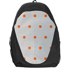 Diamond Polka Dot Grey Orange Circle Spot Backpack Bag