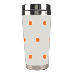 Diamond Polka Dot Grey Orange Circle Spot Stainless Steel Travel Tumblers