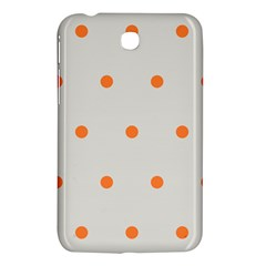 Diamond Polka Dot Grey Orange Circle Spot Samsung Galaxy Tab 3 (7 ) P3200 Hardshell Case