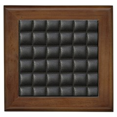 Black Cell Leather Retro Car Seat Textures Framed Tiles