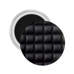 Black Cell Leather Retro Car Seat Textures 2 25  Magnets
