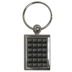 Black Cell Leather Retro Car Seat Textures Key Chains (rectangle)