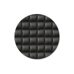 Black Cell Leather Retro Car Seat Textures Magnet 3  (Round)