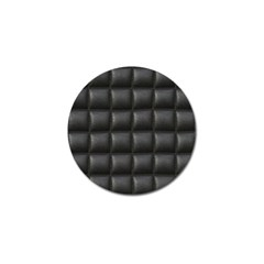 Black Cell Leather Retro Car Seat Textures Golf Ball Marker