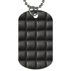 Black Cell Leather Retro Car Seat Textures Dog Tag (Two Sides)