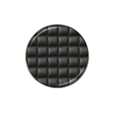 Black Cell Leather Retro Car Seat Textures Hat Clip Ball Marker
