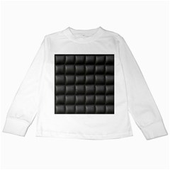 Black Cell Leather Retro Car Seat Textures Kids Long Sleeve T Shirts