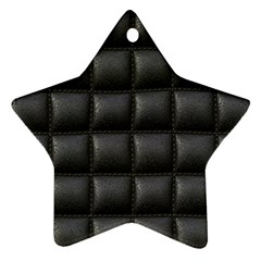 Black Cell Leather Retro Car Seat Textures Star Ornament (two Sides)