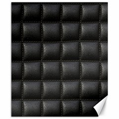 Black Cell Leather Retro Car Seat Textures Canvas 8  x 10