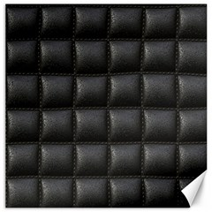 Black Cell Leather Retro Car Seat Textures Canvas 12  x 12
