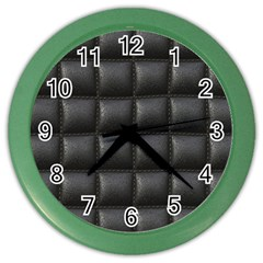 Black Cell Leather Retro Car Seat Textures Color Wall Clocks