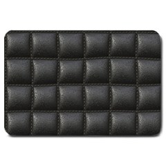 Black Cell Leather Retro Car Seat Textures Large Doormat