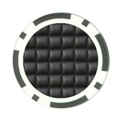 Black Cell Leather Retro Car Seat Textures Poker Chip Card Guard