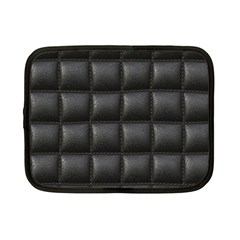 Black Cell Leather Retro Car Seat Textures Netbook Case (Small)