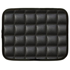 Black Cell Leather Retro Car Seat Textures Netbook Case (large)