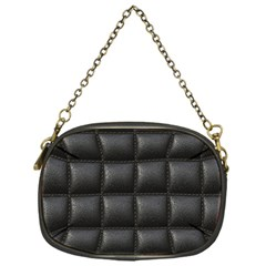 Black Cell Leather Retro Car Seat Textures Chain Purses (One Side)