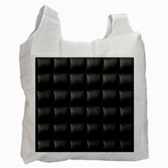 Black Cell Leather Retro Car Seat Textures Recycle Bag (Two Side)