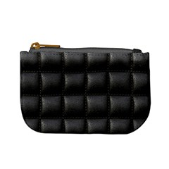 Black Cell Leather Retro Car Seat Textures Mini Coin Purses