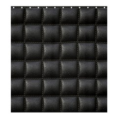 Black Cell Leather Retro Car Seat Textures Shower Curtain 66  x 72  (Large)