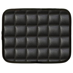 Black Cell Leather Retro Car Seat Textures Netbook Case (XL)