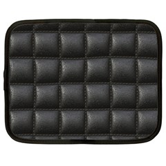 Black Cell Leather Retro Car Seat Textures Netbook Case (XXL)