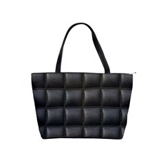 Black Cell Leather Retro Car Seat Textures Shoulder Handbags
