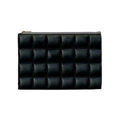 Black Cell Leather Retro Car Seat Textures Cosmetic Bag (Medium)