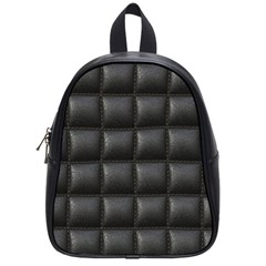 Black Cell Leather Retro Car Seat Textures School Bags (Small)