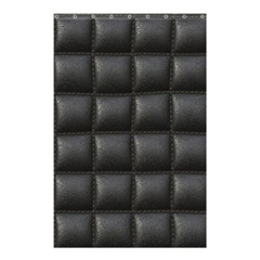 Black Cell Leather Retro Car Seat Textures Shower Curtain 48  X 72  (small)