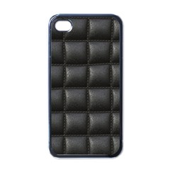 Black Cell Leather Retro Car Seat Textures Apple iPhone 4 Case (Black)