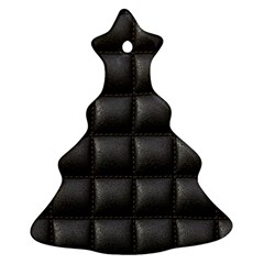 Black Cell Leather Retro Car Seat Textures Ornament (Christmas Tree)
