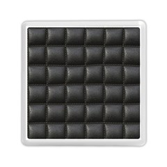 Black Cell Leather Retro Car Seat Textures Memory Card Reader (Square)