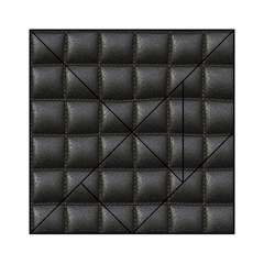 Black Cell Leather Retro Car Seat Textures Acrylic Tangram Puzzle (6  x 6 )