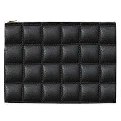 Black Cell Leather Retro Car Seat Textures Cosmetic Bag (XXL)