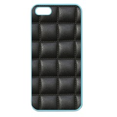 Black Cell Leather Retro Car Seat Textures Apple Seamless Iphone 5 Case (color)