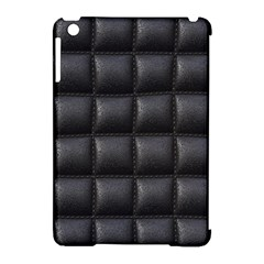 Black Cell Leather Retro Car Seat Textures Apple Ipad Mini Hardshell Case (compatible With Smart Cover)