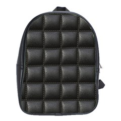 Black Cell Leather Retro Car Seat Textures School Bags (XL)