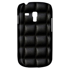 Black Cell Leather Retro Car Seat Textures Galaxy S3 Mini