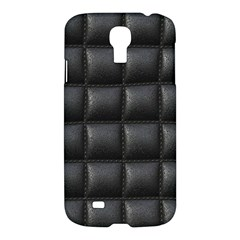 Black Cell Leather Retro Car Seat Textures Samsung Galaxy S4 I9500/I9505 Hardshell Case