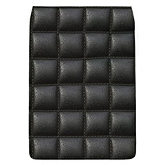 Black Cell Leather Retro Car Seat Textures Flap Covers (l)