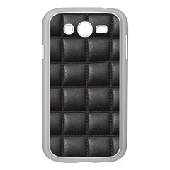 Black Cell Leather Retro Car Seat Textures Samsung Galaxy Grand DUOS I9082 Case (White)