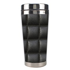 Black Cell Leather Retro Car Seat Textures Stainless Steel Travel Tumblers