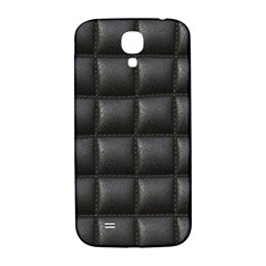 Black Cell Leather Retro Car Seat Textures Samsung Galaxy S4 I9500/i9505  Hardshell Back Case
